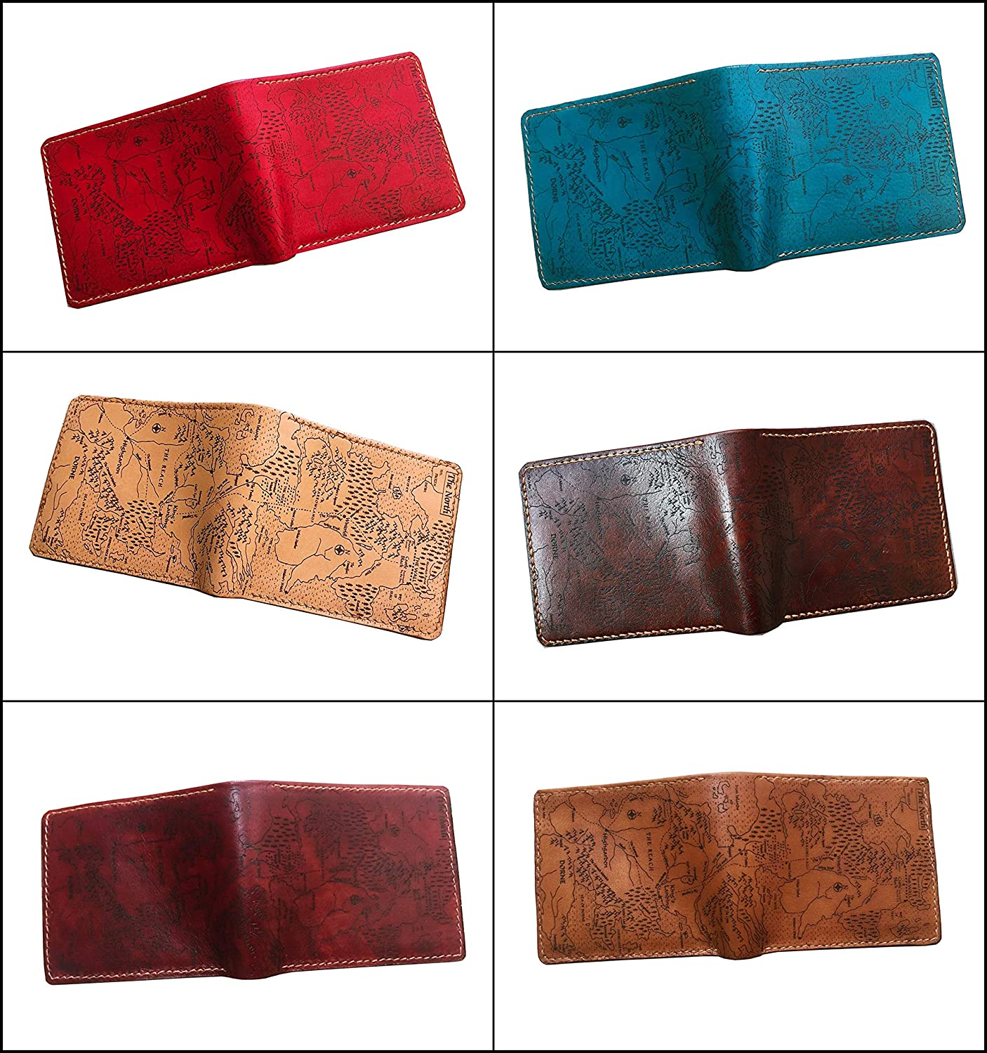 1LE Unik4art gift for men Game of Thrones Westeros map movie series leather handmade mens bifold wallet