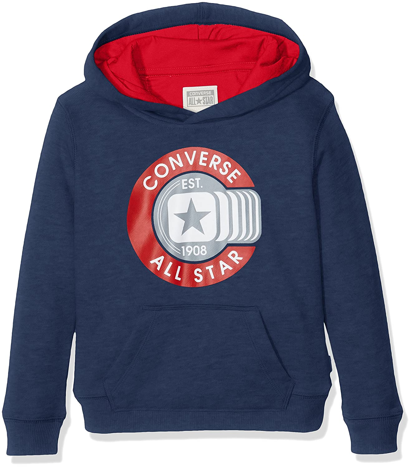 Converse Boy's Graphic Pull Over Hoodie Blue (All Star Navy) CNV6363S