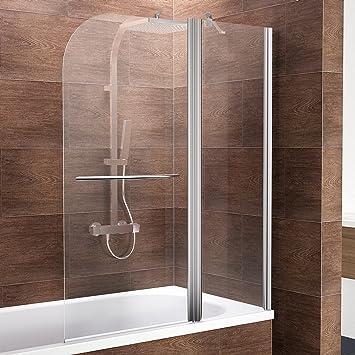 Schulte ducha pared Duo, 115 x 140 cm, 2 piezas con fijo Element y toallero, cristal de seguridad transparente 6 mm, perfil Color Cromo de Imitación, mampara para bañera: Amazon.es: Bricolaje y herramientas