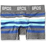 (ブロス)BROS ボクサーパンツ (前閉じ 綿混 立体成型)