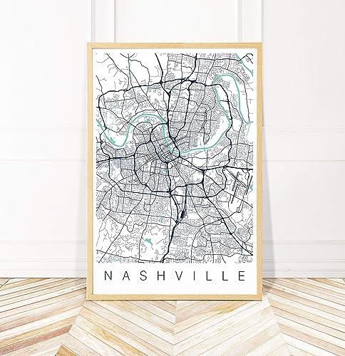 It is an image of Printable Map of Nashville in neighborhood