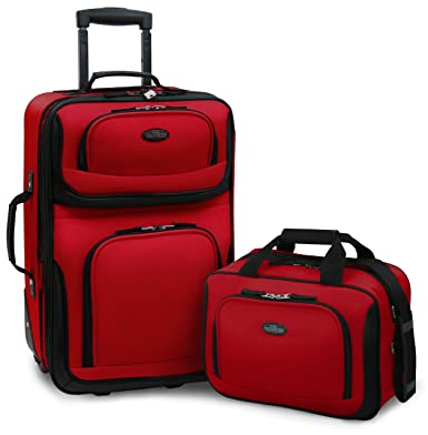 42451fd42b9b U.S Traveler Rio Two Piece Expandable Carry-on Luggage Set (14-Inch and