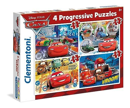 7 opinioni per Clementoni 21510- Set di 4 Puzzle Progressivi, Cars, 12/20/24/35 Pezzi