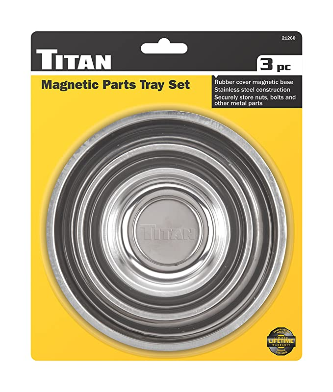 Amazon.com: Titan Tools 21260 3 Piece Magnetic Parts Tray Set: Automotive
