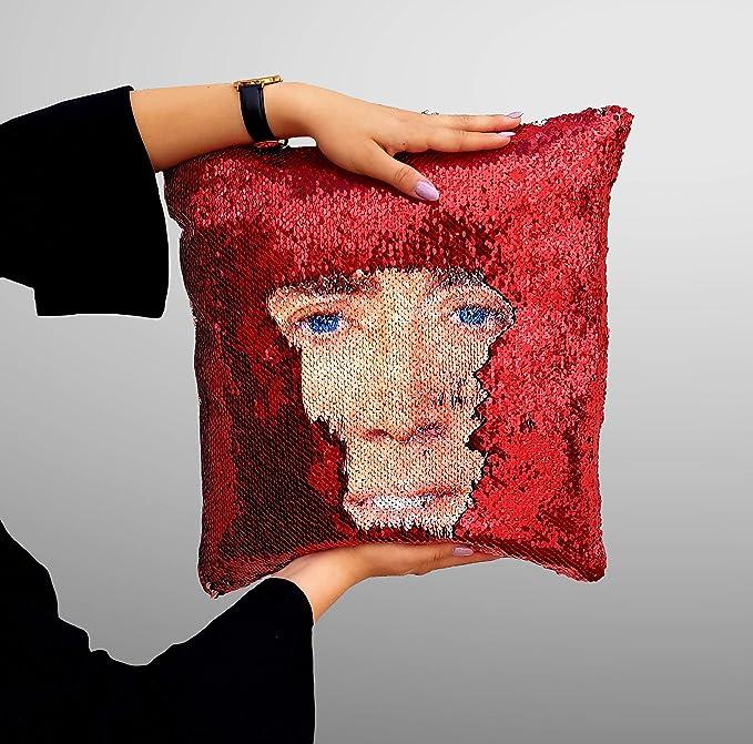 Amazon.com: Nicolas Cage almohada de lentejuelas, funda de ...