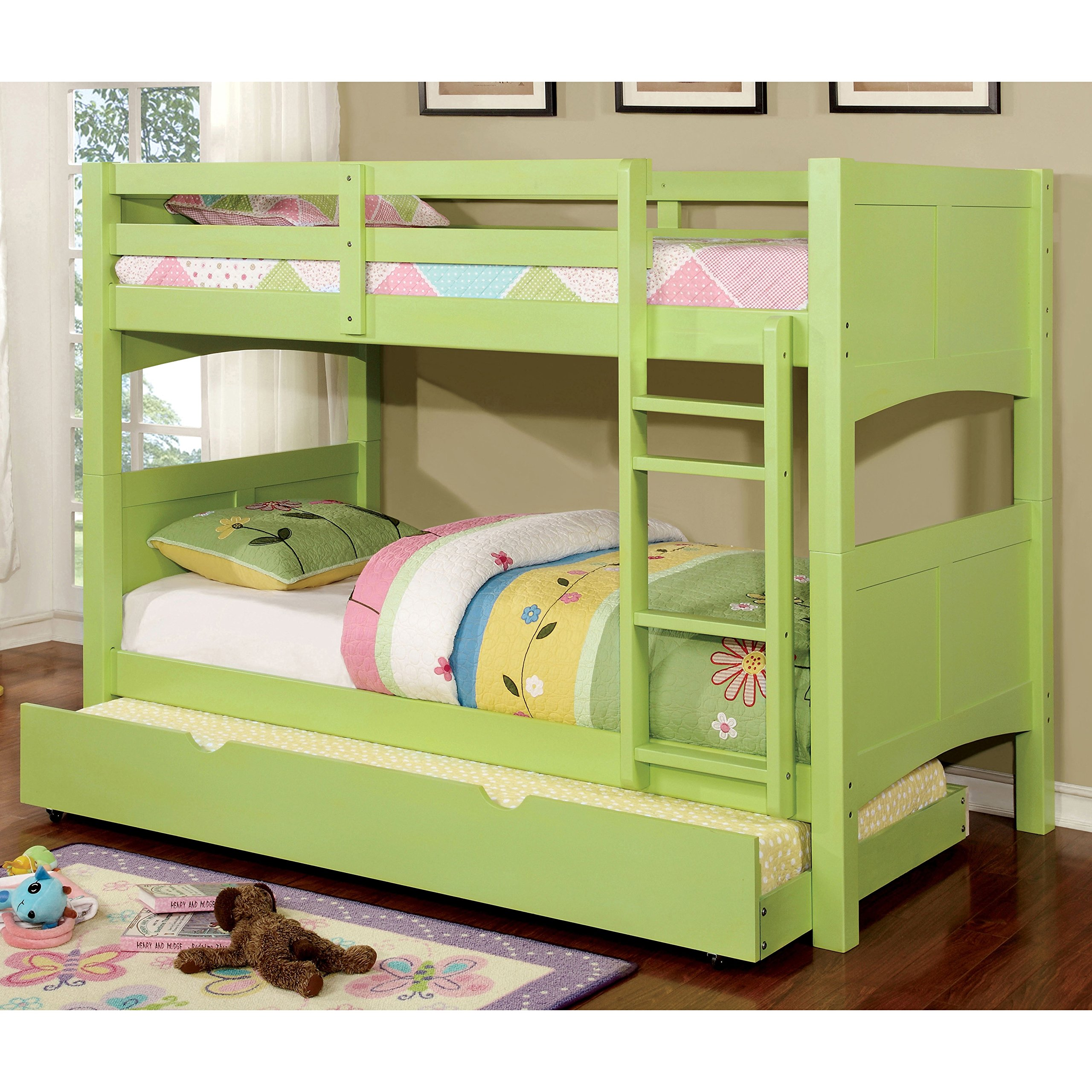 Furniture of America Colorpop Modern Twin-size Pull-out Trundle Keylime Green