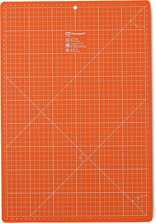 48 x 33 x 0.7 cm Prym Cutting mat 30 x 45 cm Orange Synthetic Material