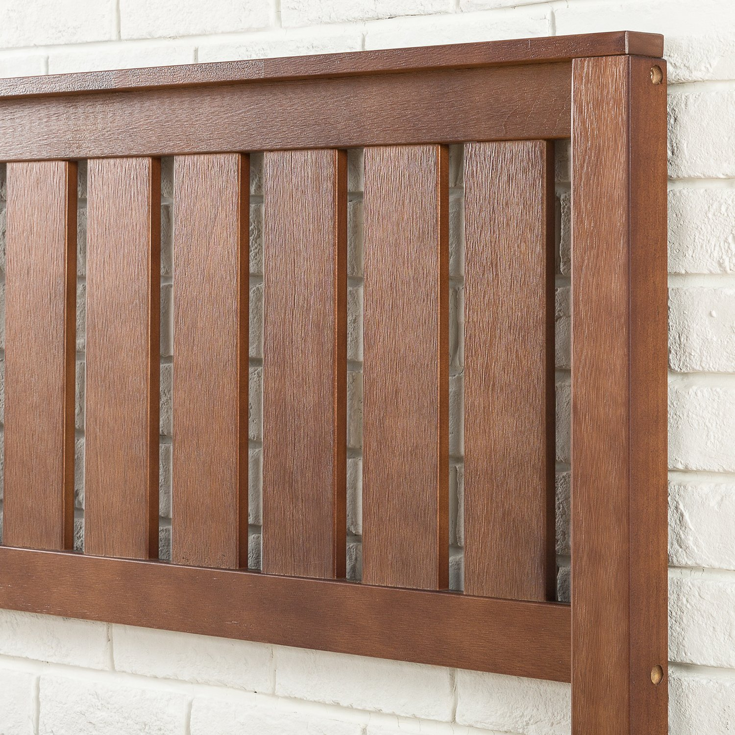 Zinus 12 Inch Deluxe Wood Platform Bed with Headboard / No Box Spring Needed / Wood Slat Support / Antique Espresso Finish, Full by Zinus (Image #5)