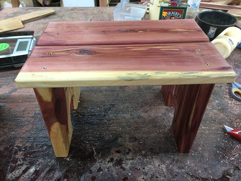 Step stool, cedar step stool, pet stool, kitchen stool, bedroom stool, kids step stool, child's stepstool, step stool, wooden stool, cabin furniture child's stepstool