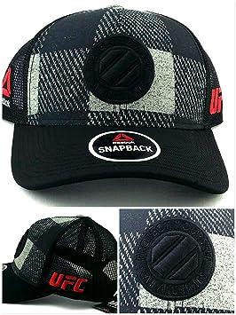 UFC Reebok MMA octogonal de nuevo negro y gris cuadros malla gorra Era snapback sombrero Cap: Amazon.es: Deportes y aire libre