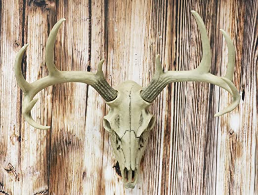 NEW FAUX WOOD DEER//BUCK ANTLERS WALL HANG DECORATIVE CABIN COTTAGE BOOK SHELF