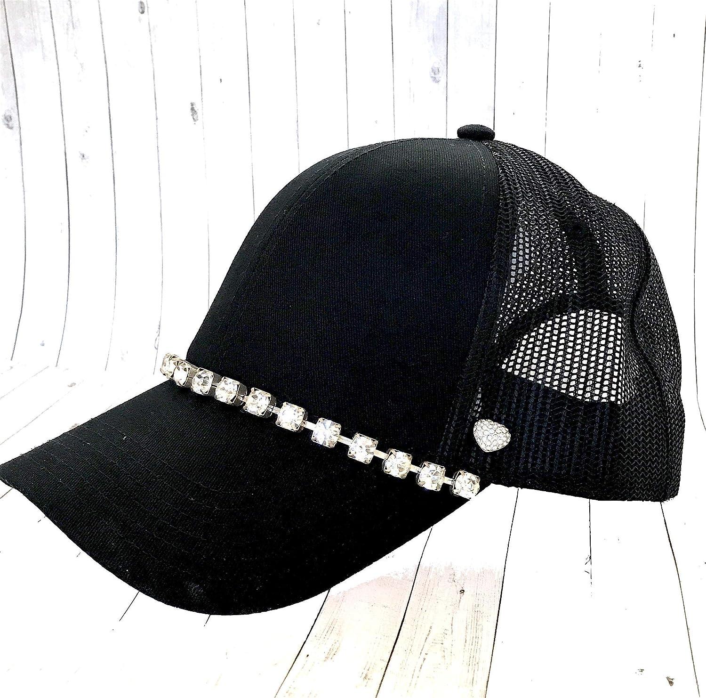 Crystal Flower Trucker Hat for Women