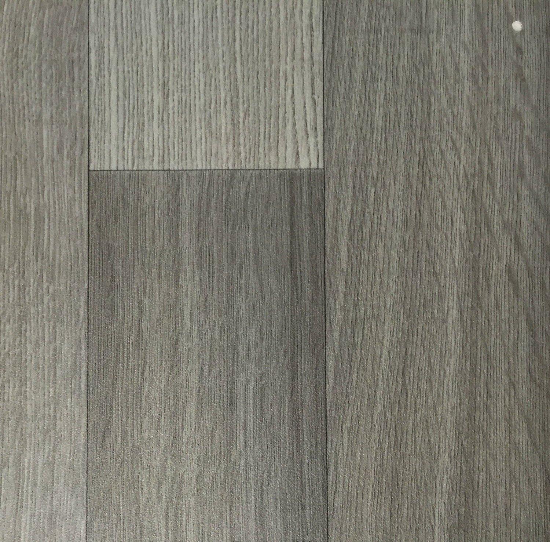 PVC-Belag verf/ügbar in der Breite 4 m /& in der L/änge 8,0 m CV-Boden wird in ben/ötigter Gr/ö/ße als Meterware geliefert PVC Vinyl-Bodenbelag in der Optik grau anthrazit Holz Planke