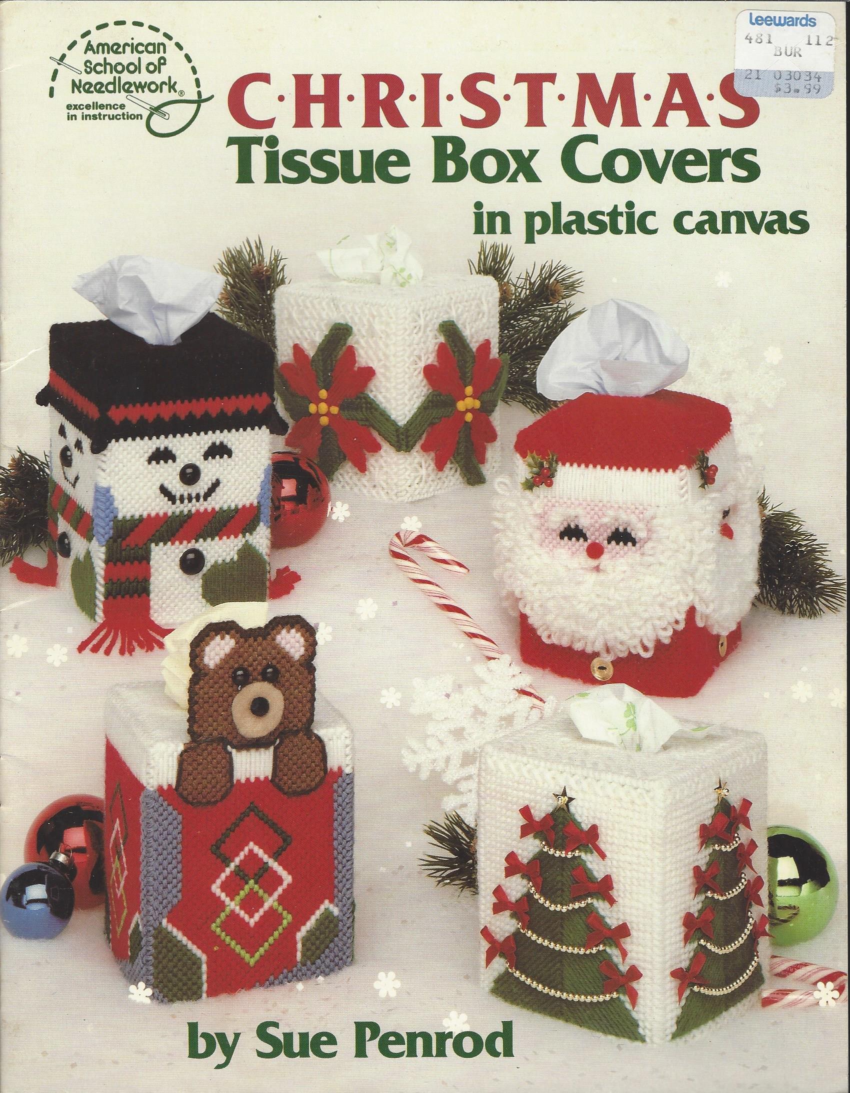 Plastic Canvas Christmas.Plastic Canvas Christmas Tissue Box Covers In Plastic Canvas