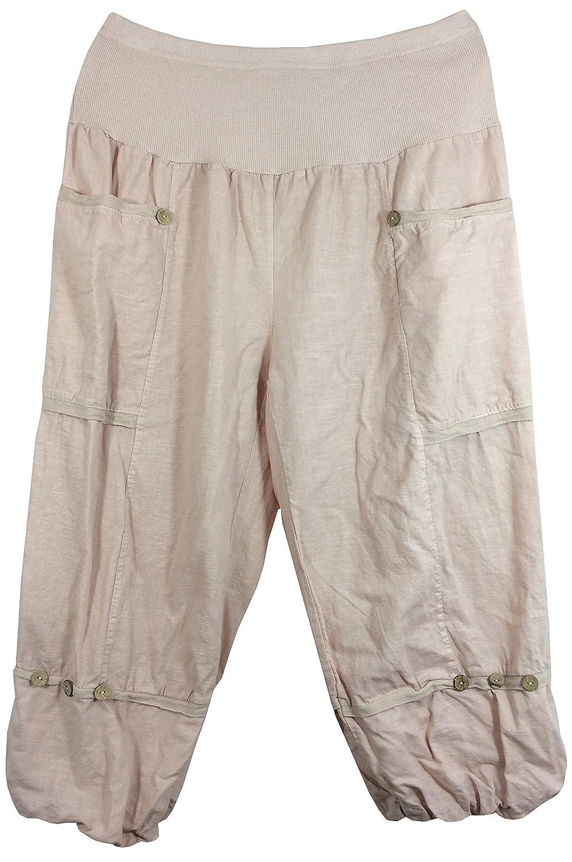 Pantalones 3  4 de lino para mujer 270c68979af5