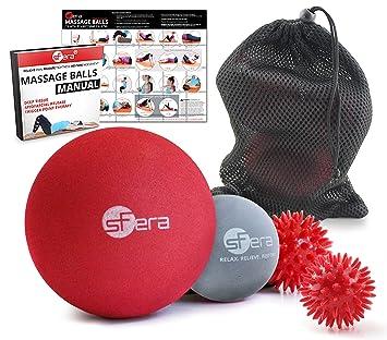 Amazon.com: Juego de bolas de masaje para miofascial ...