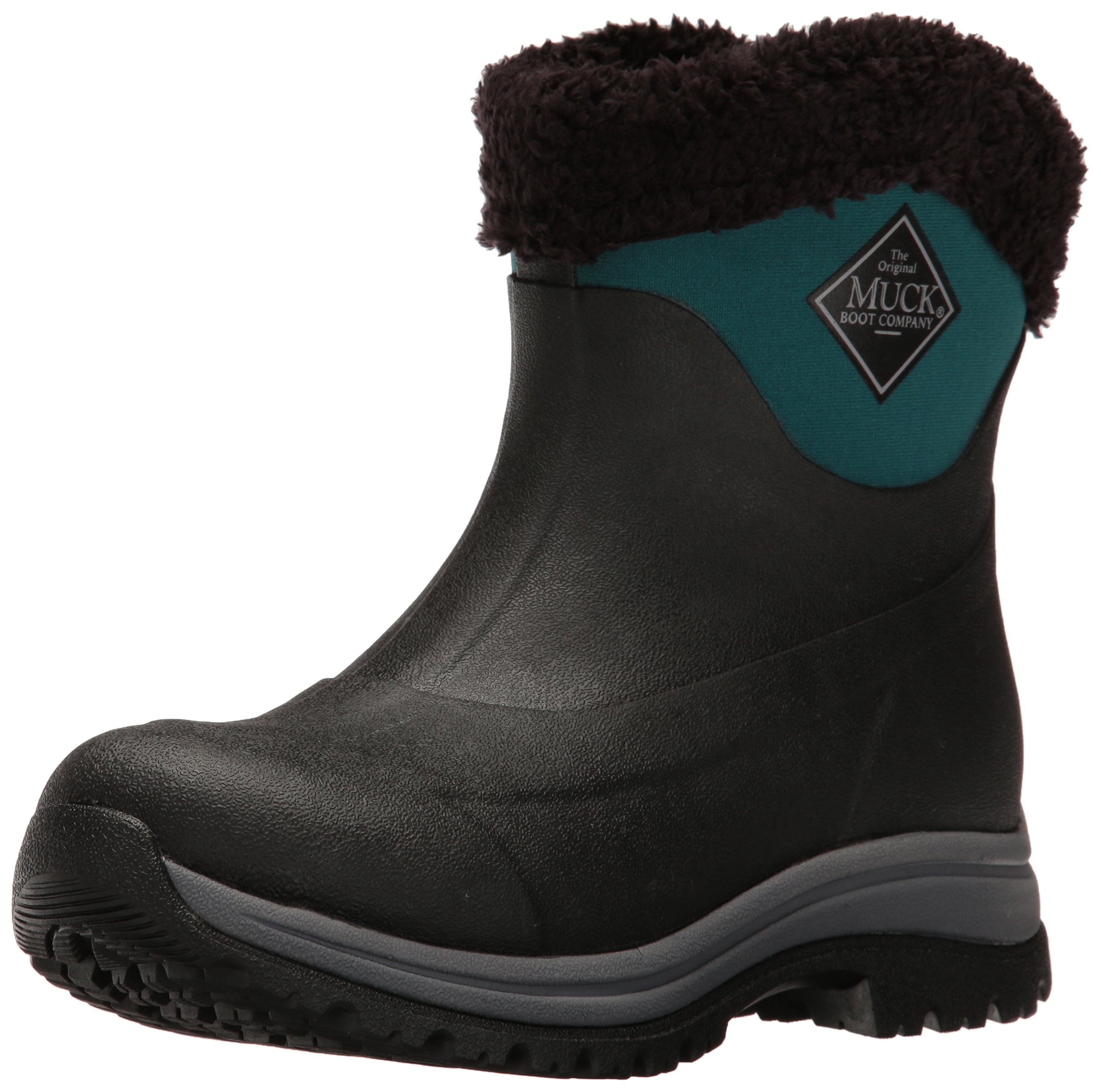 Muck Boot Women's Arctic Apres Slip-On Snow, Black/Shaded Spruce, 10 US/10 M US by Muck Boot
