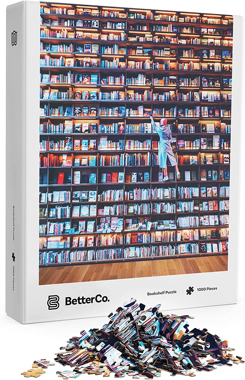 bookshelf puzzle - book themed jigsaw puzzles