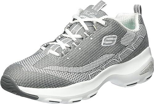 Skechers Damen D'Lite Ultra Komfort Sneakers und sportlicher Walking Laufschuh zum Schnüren mit Einlegesohle aus Air Cooled Memory Foam