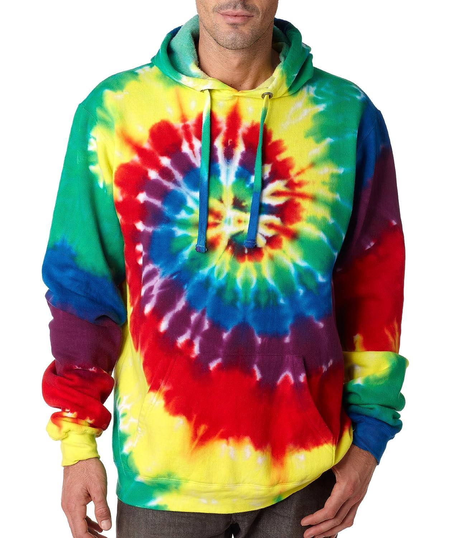 ac7ec6afa0a02 Gildan Tie Dye Hoodie Sweatshirt 854 Unisex Pinwheel