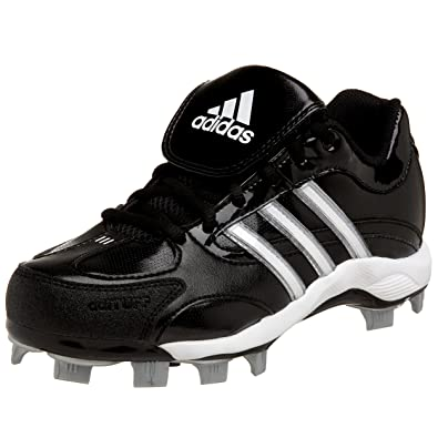 265acf128597 adidas Women's Fastpitch III TPU Softball Cleat,Black/White/Silver,7 M