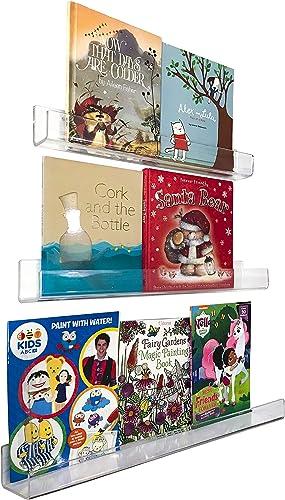 Unbreakable Premium Acrylic Floating Bookshelve