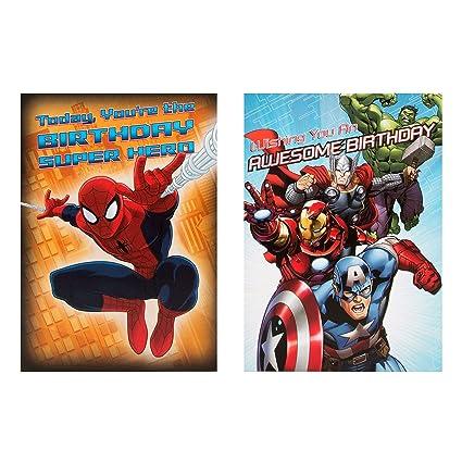 Hallmark - 8 cartas de Marvel, tamaño pequeño: Amazon.es ...