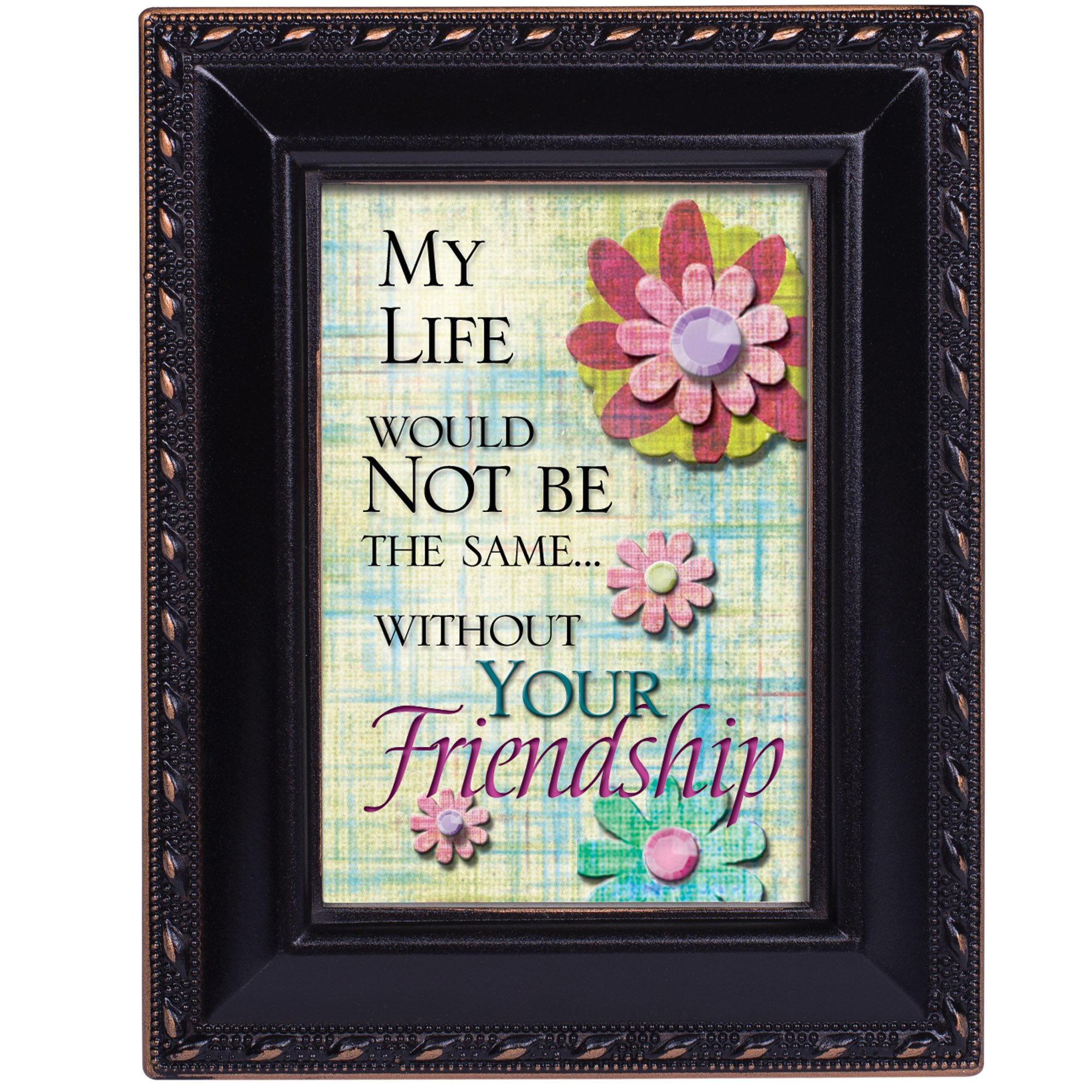Cottage Garden Life Would Not Be The Same Black Rope Trim Tiny Frame with Magnet and Easel by Cottage Garden (Image #2)
