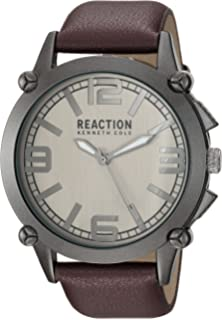 Kenneth Cole REACTION Mens Japanese quartz Metal Casual watch Grey/Brown (Model: 10030947