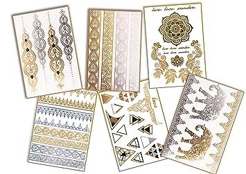 Tatuaje de POSH Tattoo Dorado, metalizado, plateado y blanco ...