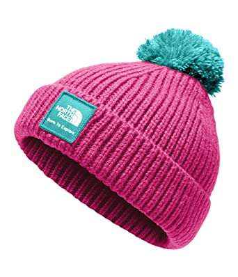 d64e34199c45c The North Face Baby Box Logo Pom Beanie - Azalea Pink   Mint Blue - XXS