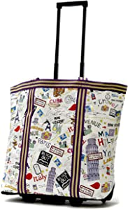 Olympia Luggage Cosmopolitan Rolling Shopper Tote, City, One Size