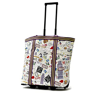 Amazon.com | Olympia Luggage Cosmopolitan Rolling Shopper Tote ...