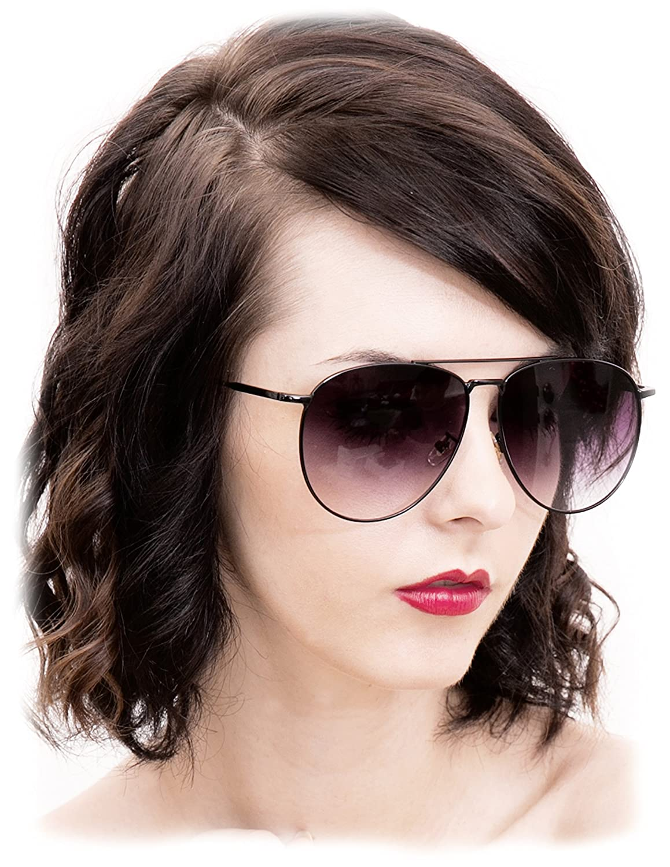 bec19c7e1a O2 Eyewear 97025 Premium Oversized Flat Aviator Mirrored Sunglass Womens  Mens (METAL  Amazon.in  Clothing   Accessories