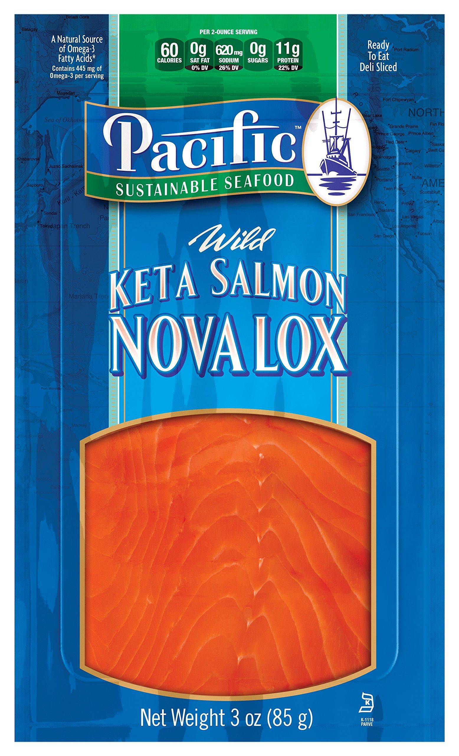 Smoked Salmon Lox Keta 1 Lb Tray Frozen by Newport