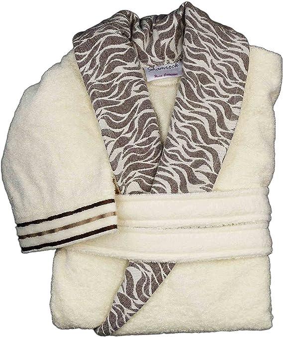 Lujo Albornoz Mujer Hombre 100% algodón absorbente abrigo Bata para Sauna: Amazon.es: Hogar