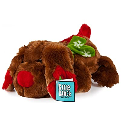 Blue Block Factory Plush Animal Toy Chocolate Brown Holiday Christmas Puppy: Toys & Games