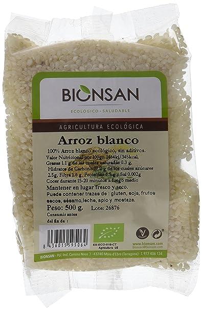 Bionsan Arroz Blanco Redondo - 6 Paquetes de 500 gr - Total: 3000 gr