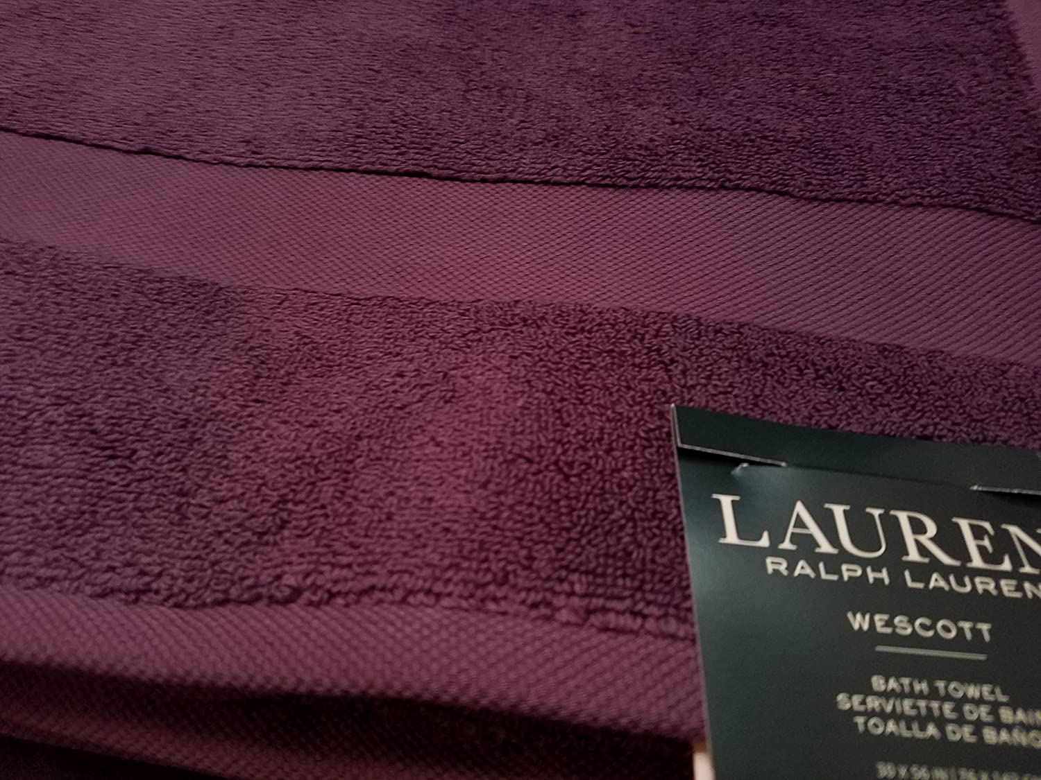 Amazon.com: Ralph Lauren Wescott Towel Noble Purple Bath Towel - 30x56: Home & Kitchen