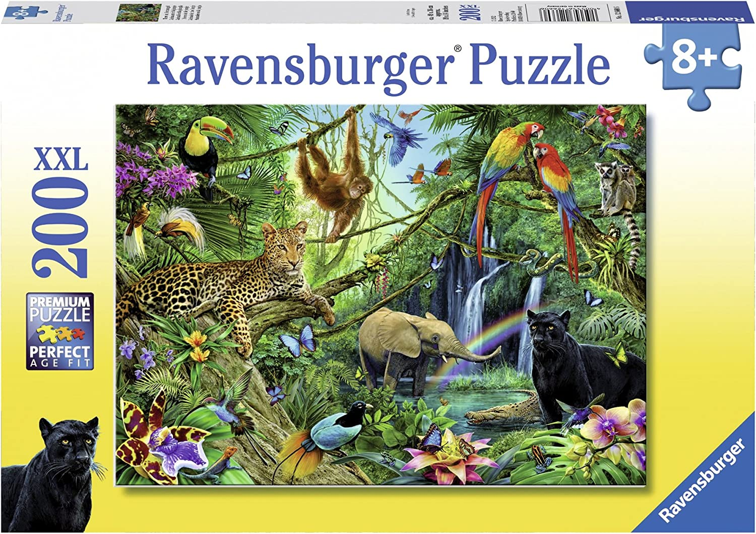 Amazon Com Ravensburger Animals In The Jungle Jigsaw Puzzle 200 Piece Toys Games