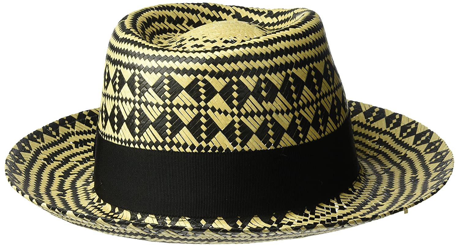 3572eb257d8 Bailey of Hollywood Men s Hartley Contrast Patterned Weave Fedora Hat at  Amazon Men s Clothing store