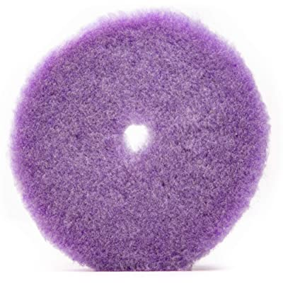 "6.25"" x .75"" Purple Foamed Wool Buffing/Polishing Pad w/Center Hole: Automotive"