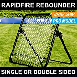 RapidFire Cricket Rebounder - Best Quality Spring Loaded Rebound Net To Improve Your Cricket Catching - Also Ideal For Cricket Batting Technique Drills And Wicket Keeping Practice - [Net World Sports]