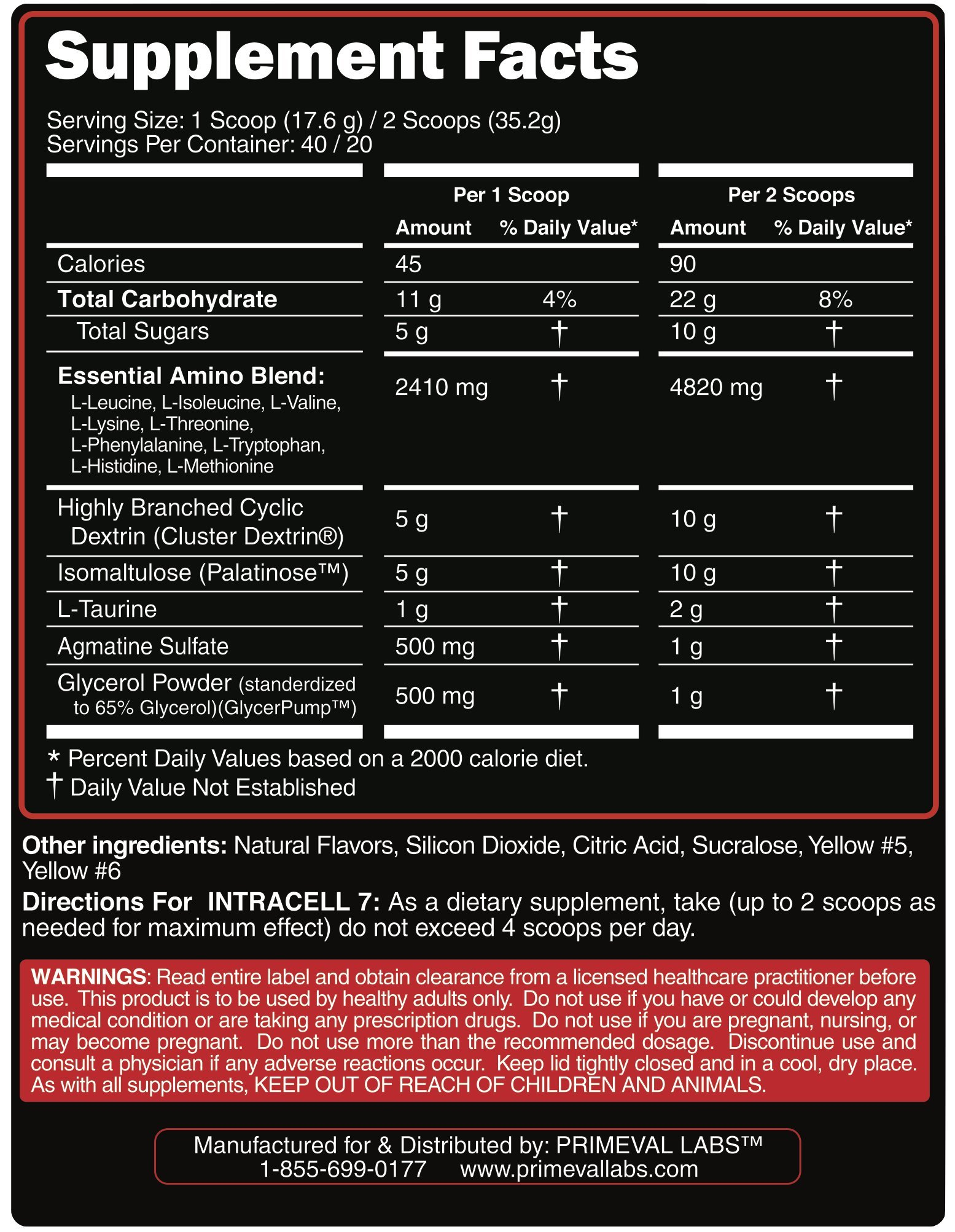 BIOS3 Intracell 7 - Amino Intra Workout Supplement by Primeval ...