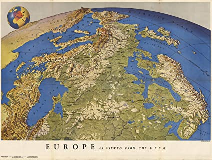 Amazon.com: Historic Map | Europe as Viewed from the U.S.S.R. 1944 ...