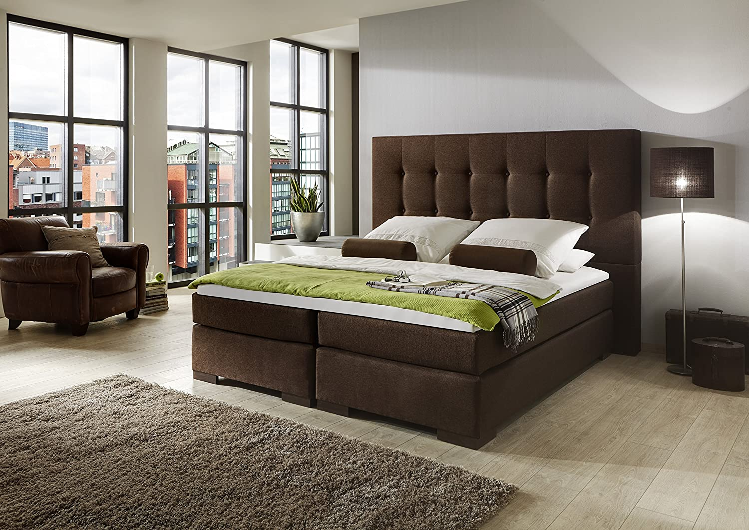 boxspringbett winchester 180x200 schwarz g nstig preis. Black Bedroom Furniture Sets. Home Design Ideas