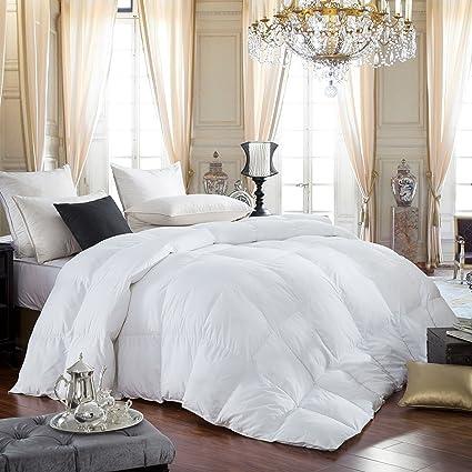 Egyptian Bedding 600 Thread Count Cotton Siberian Goose Down Comforter 750 Fill