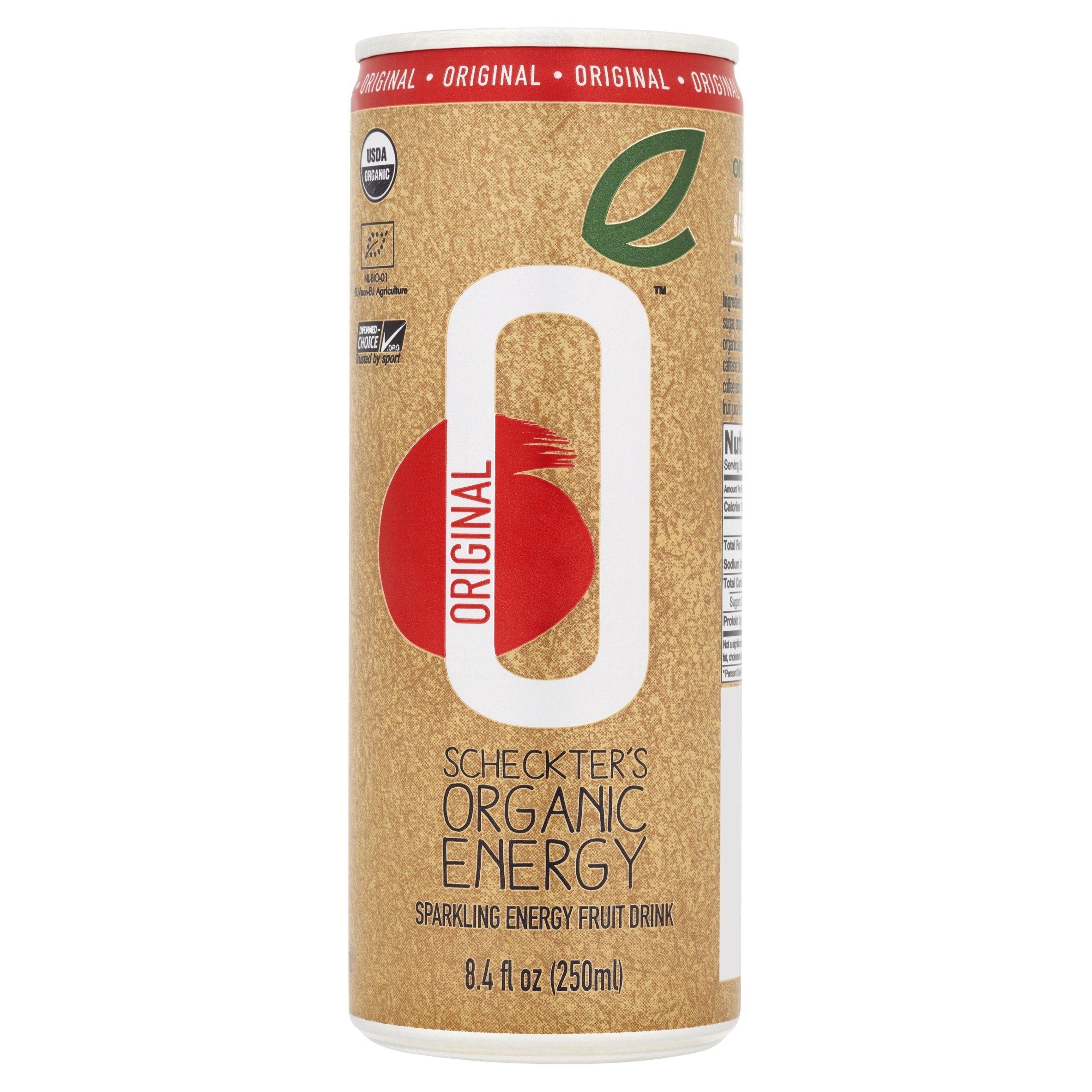 Scheckter's Organic Energy Drink, Original Pomegranate, 8.4 Ounce (Pack of 12)
