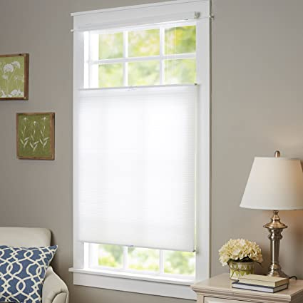 bottom up window shades cordless genesis home collection top downbottom up cordless honeycomb cellular window shade 27x64 white amazoncom