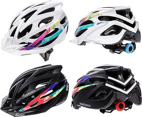 meteor® Casco Bicicleta Helmet de Bici para Jovenes y Adultos ...